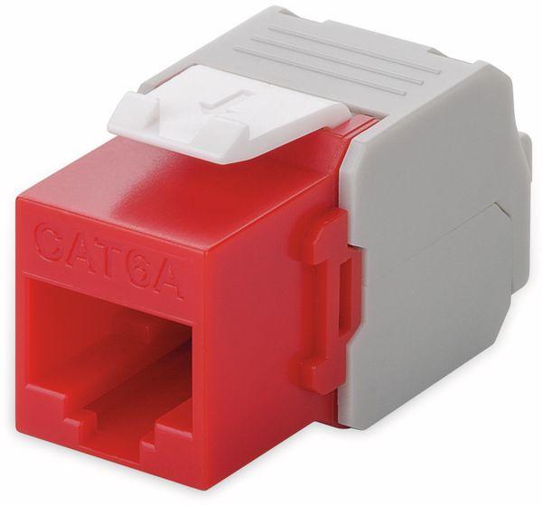 Einbau-Modul GOOBAY 90689, CAT.6a, UTP, Breite 16,5 mm, rot