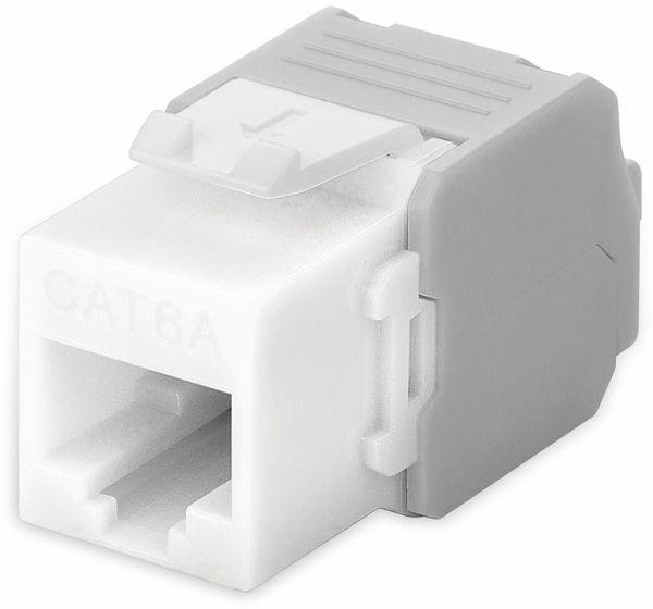 Einbau-Modul GOOBAY 90867, CAT.6a, UTP, Breite 16,5 mm, weiß