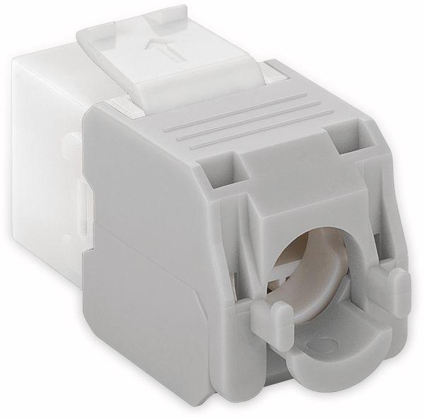 Einbau-Modul GOOBAY 90867, CAT.6a, UTP, Breite 16,5 mm, weiß - Produktbild 2