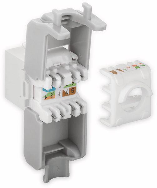 Einbau-Modul GOOBAY 90867, CAT.6a, UTP, Breite 16,5 mm, weiß - Produktbild 3