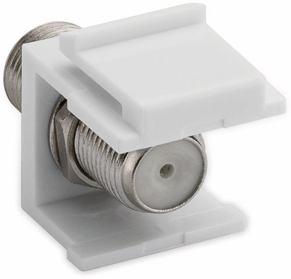 Einbau-Modul GOOBAY 79474. F-Kupplung, weiß - Produktbild 2