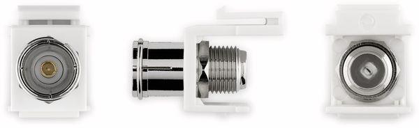 Einbau-Modul GOOBAY 79936, Kupplung Koax- auf F-Buchse - Produktbild 2