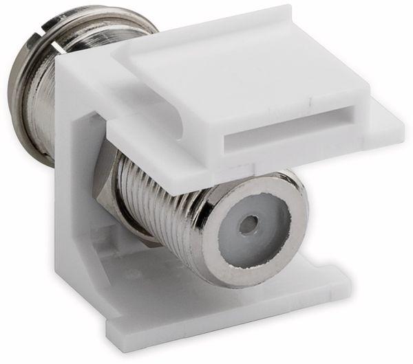 Einbau-Modul GOOBAY 79936, Kupplung Koax- auf F-Buchse - Produktbild 3
