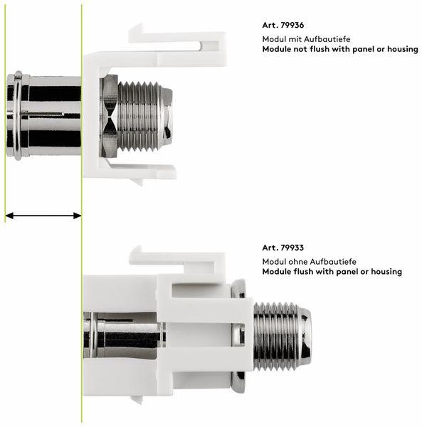 Einbau-Modul GOOBAY 79936, Kupplung Koax- auf F-Buchse - Produktbild 7