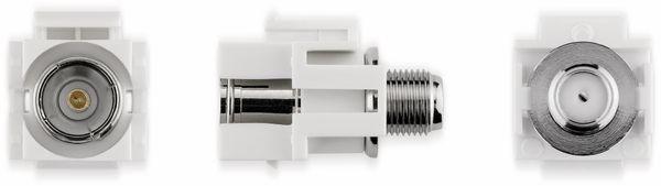 Einbau-Modul GOOBAY 79933, Kupplung, Koax- auf F-Buchse, bündige Montage - Produktbild 2