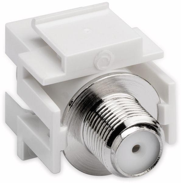 Einbau-Modul GOOBAY 79933, Kupplung, Koax- auf F-Buchse, bündige Montage - Produktbild 3