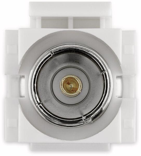 Einbau-Modul GOOBAY 79933, Kupplung, Koax- auf F-Buchse, bündige Montage - Produktbild 4