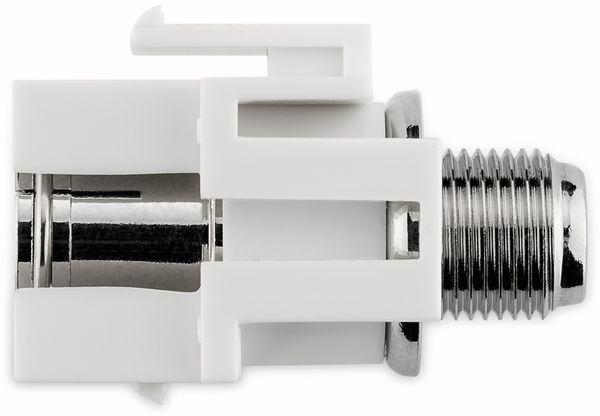 Einbau-Modul GOOBAY 79933, Kupplung, Koax- auf F-Buchse, bündige Montage - Produktbild 5