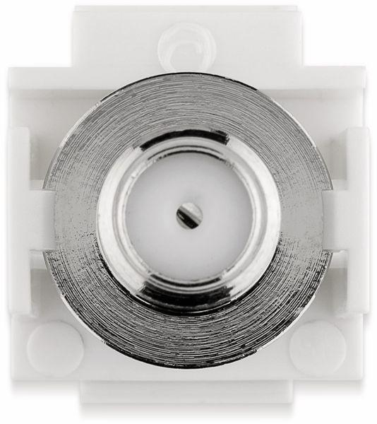 Einbau-Modul GOOBAY 79933, Kupplung, Koax- auf F-Buchse, bündige Montage - Produktbild 6