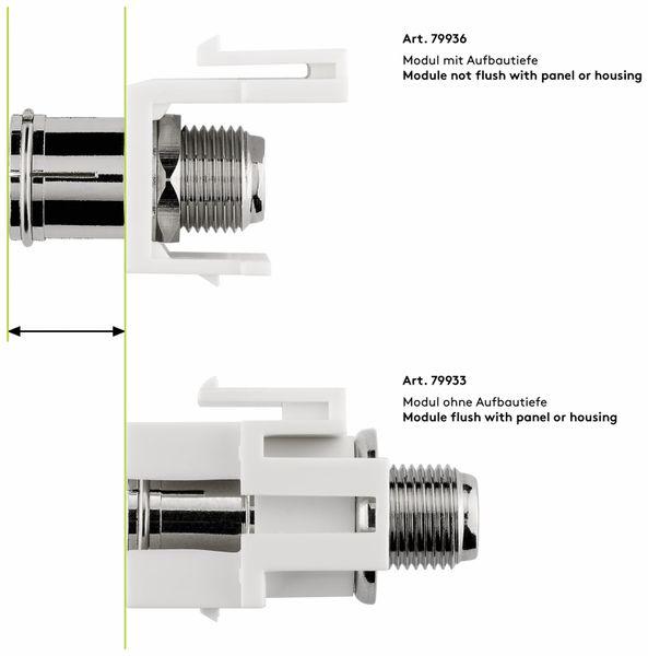 Einbau-Modul GOOBAY 79933, Kupplung, Koax- auf F-Buchse, bündige Montage - Produktbild 7