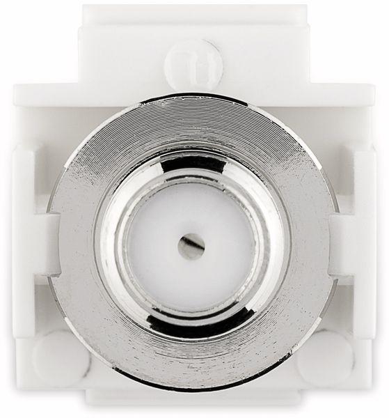 Einbau-Modul GOOBAY 79938, Kupplung, Koax-Stecker auf F-Buchse, bünd. Montage - Produktbild 3