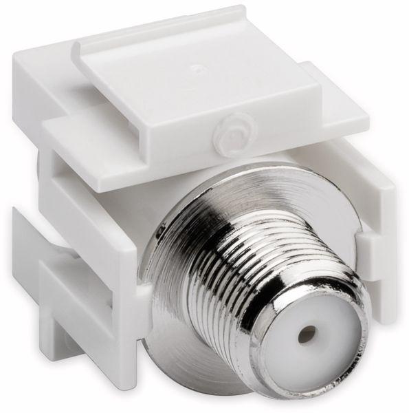 Einbau-Modul GOOBAY 79938, Kupplung, Koax-Stecker auf F-Buchse, bünd. Montage - Produktbild 5