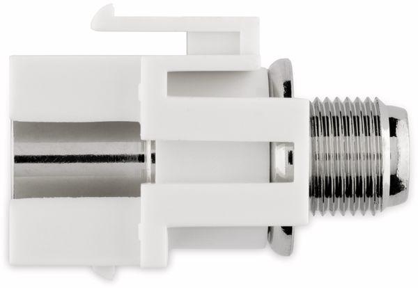 Einbau-Modul GOOBAY 79938, Kupplung, Koax-Stecker auf F-Buchse, bünd. Montage - Produktbild 6