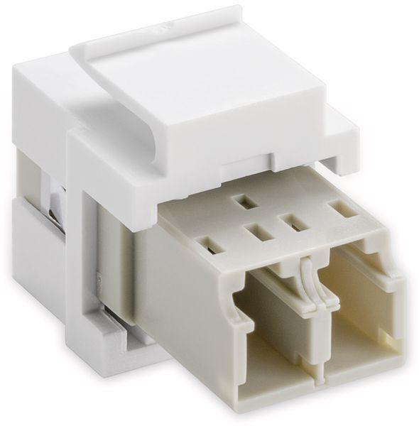 Einbau-Modul GOOBAY 80000, Lichtwellenleiter, 2x LC-Duplex Buchse - Produktbild 2