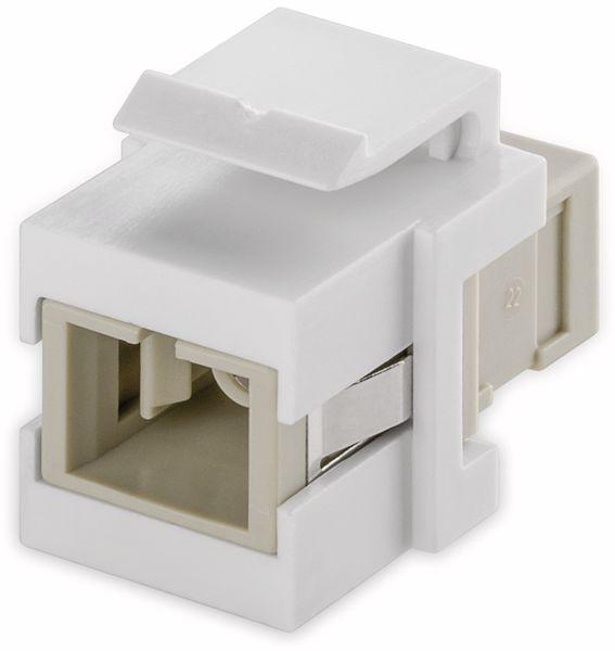Einbau-Modul GOOBAY 80017, Lichtwellenleiter, 2x Simplex Buchse