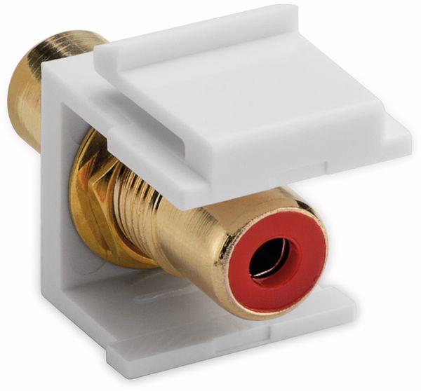 Einbau-Modul GOOBAY 79669, 2x Cinch-Buchse, rot, vergoldet - Produktbild 2