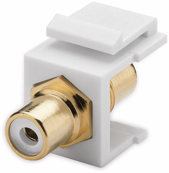 Einbau-Modul GOOBAY 79676, 2x Cinch-Buchse, weiß, vergoldet