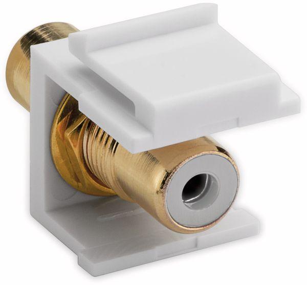 Einbau-Modul GOOBAY 79676, 2x Cinch-Buchse, weiß, vergoldet - Produktbild 2