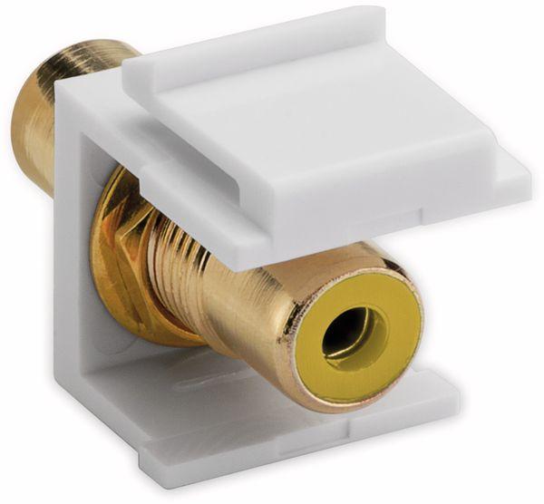 Einbau-Modul GOOBAY 79672, 2x Cinch-Buchse, gelb, vergoldet - Produktbild 2