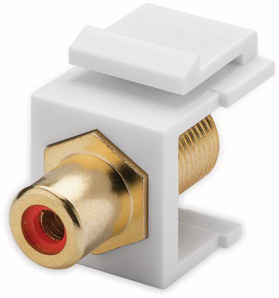 Einbau-Modul GOOBAY 79702, Cinch- auf F-Buchse, vergoldet, rot