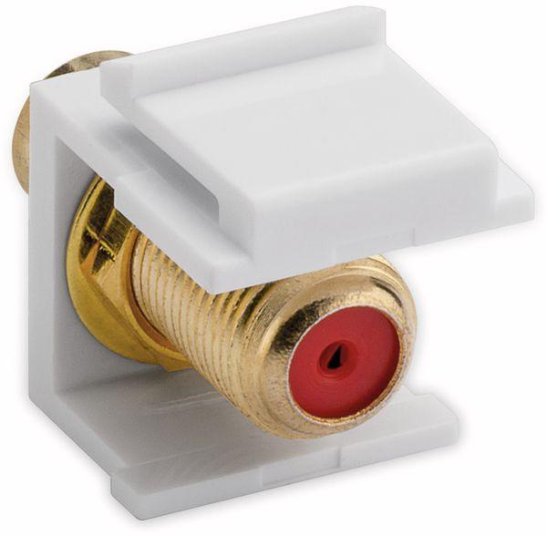 Einbau-Modul GOOBAY 79702, Cinch- auf F-Buchse, vergoldet, rot - Produktbild 2