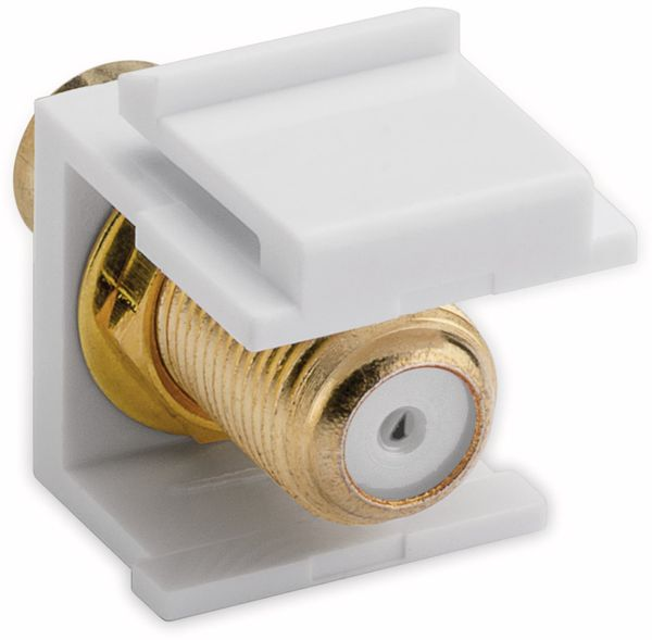 Einbau-Modul GOOBAY 79727, Cinch- auf F-Buchse, vergoldet, weiß - Produktbild 2