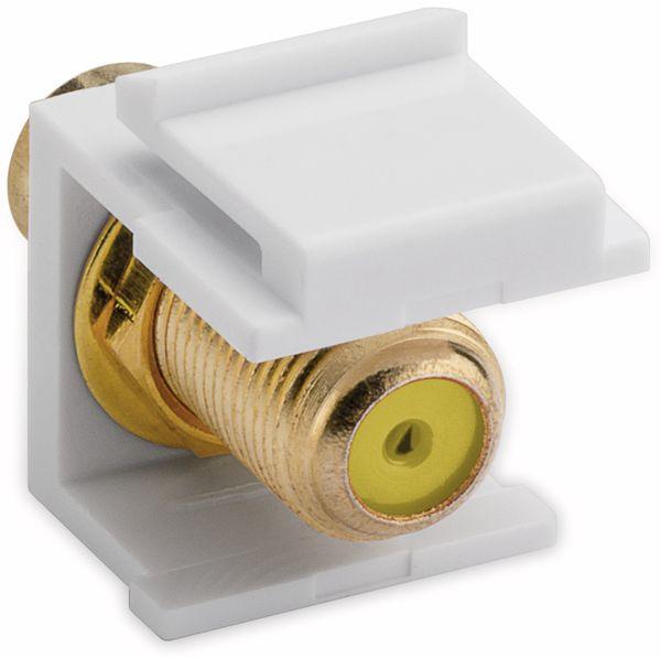 Einbau-Modul GOOBAY 79799, Cinch- auf F-Buchse, vergoldet, gelb - Produktbild 2