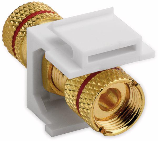 Einbau-Modul GOOBAY 79484, Polklemmen, (rot), weiß, vergoldet - Produktbild 2