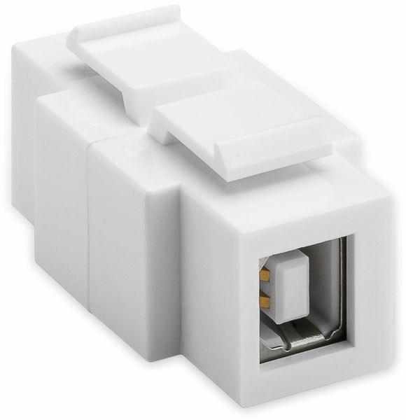 Einbau-Modul GOOBAY 79930, USB 2.0- Typ A auf USB 2.0- Typ B Buchse - Produktbild 2