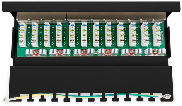 CAT.6 Patchpanel GOOBAY 69307, Mini, 12-fach, STP, schwarz - Produktbild 3