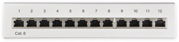 CAT.6 Patchpanel GOOBAY 62070, Mini, 12-fach, STP, weiß - Produktbild 2