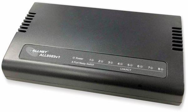 Switch ALLNET ALL8089v1, unmanaged, 8-Port, Fast Ethernet