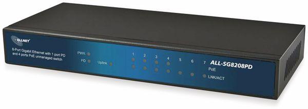 Switch ALLNET ALL-SG8208PD, unmanaged, 8-Port, Gigabit, PoE