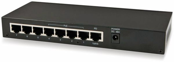 Switch ALLNET ALL-SG8208PD, unmanaged, 8-Port, Gigabit, PoE - Produktbild 3