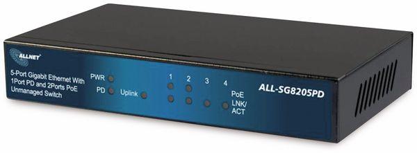 Switch ALLNET ALL-SG8205PD, unmanaged, 5-Port, Gigabit, PoE