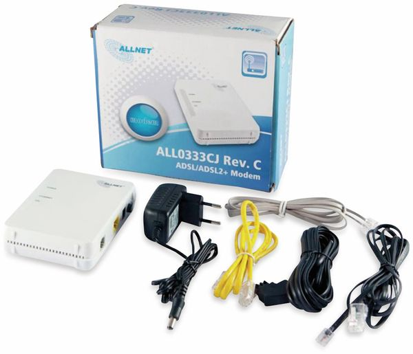 ISP Bridge Modem ALLNET ALL0333CJ, ADSL/ADSL2+ - Produktbild 4