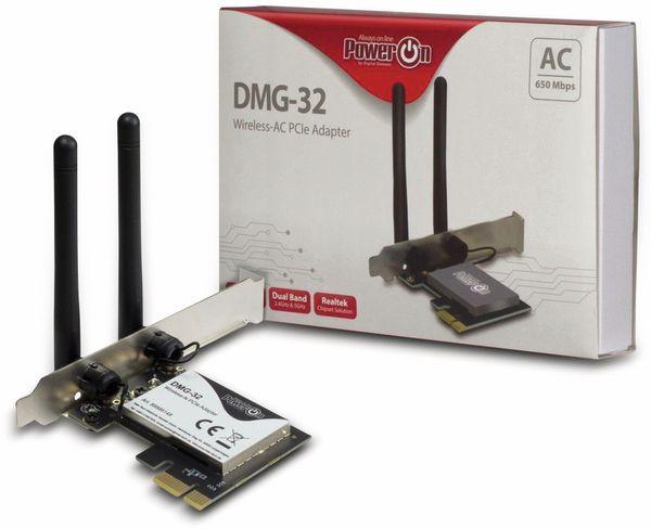 WLAN PCIe-Card INTER-TECH DMG-32, 650 Mbps