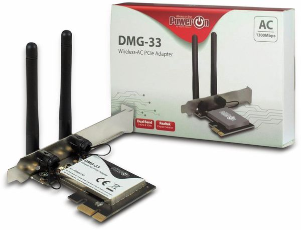 WLAN PCIe-Card INTER-TECH DMG-33, 1300 Mbps