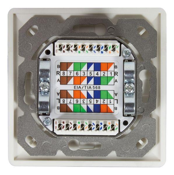 CAT.6 Anschlussdose LOGILINK NP0006A, 2x RJ45, UP+AP - Produktbild 5