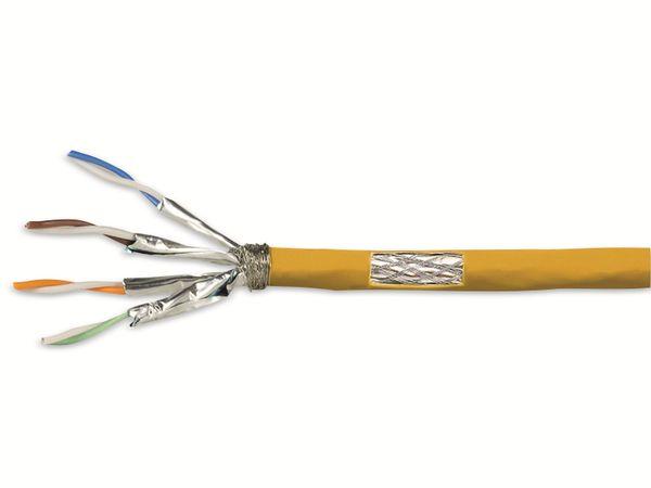 CAT.7a Netzwerkkabel LOGLINK CPV0068, Installation, AWG23, gelb, 25 m
