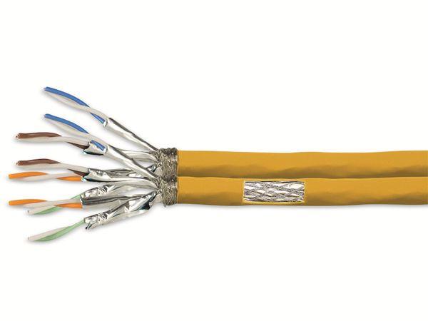CAT.7a Netzwerkkabel LOGLINK CPV0075, Installation, AWG23, duplex, gelb, 50 m