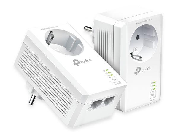 Powerline-Set TP-LINK TL-PA7027P KIT, AC Passtrough, AV1000