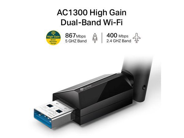 WLAN USB-Adapter TP-LINK Archer T3U Plus, AC1300 - Produktbild 2