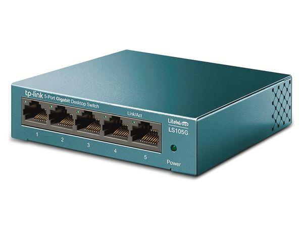 LiteWave Switch TP-LINK LS108G, Gigabit, unmanaged, 5-port, Metall - Produktbild 2