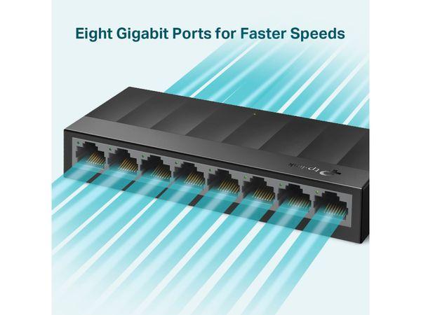 LiteWave Switch TP-LINK LS1008G, Gigabit, unmanaged, 8-port, Kunststoff - Produktbild 3