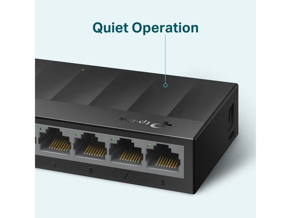LiteWave Switch TP-LINK LS1008G, Gigabit, unmanaged, 8-port, Kunststoff - Produktbild 4