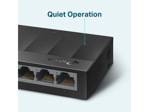 LiteWave Switch TP-LINK LS1005G, Gigabit, unmanaged, 5-port, Kunststoff - Produktbild 4