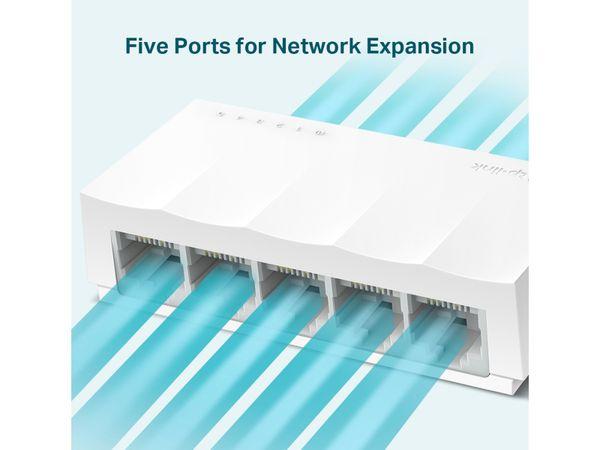 LiteWave Switch TP-LINK LS1005, FastEthernet, unmanaged, 5-port - Produktbild 3