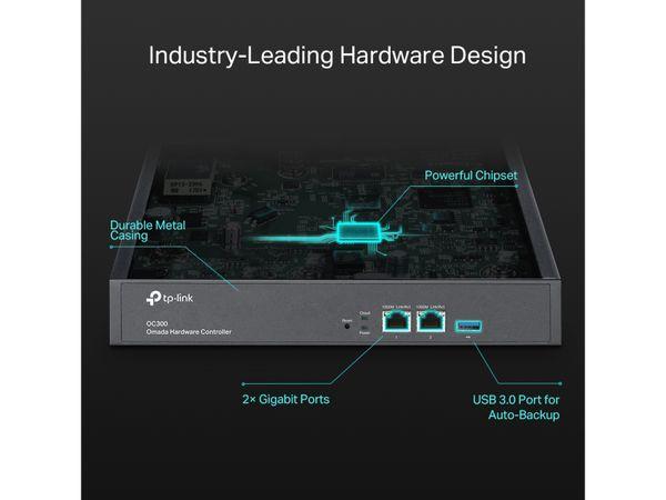 WLAN Hardware-Conroller TP-LINK OMADA OC300, 2x Gigabit-LAN - Produktbild 7