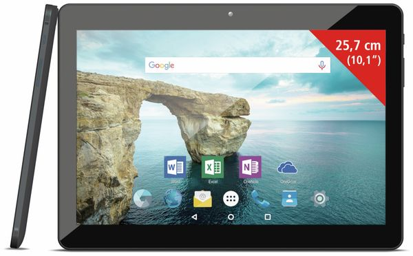 """Tablet ODYS Thor 10 plus 3G, Android 6.0, 10,1"""" (25,7 cm), Microsoft-Office"""